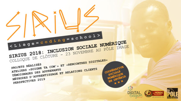 colloque de clôture Sirius : Inclusion sociale numérique - 23 novembre 2018