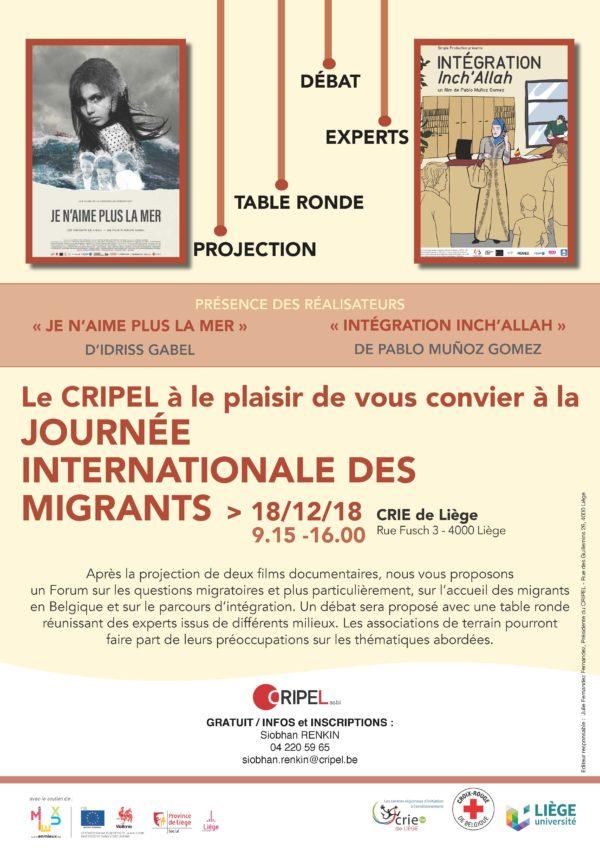 JOURNÉE INTERNATIONALE DES MIGRANTS - 18 décembre 2018