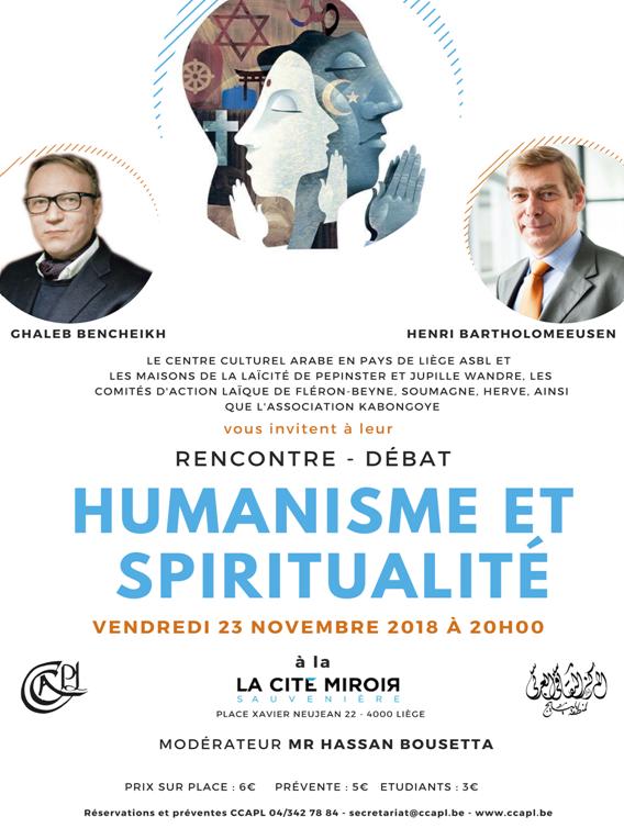 Rencontre/Débat : Humanisme et spiritualité - 23 novembre 2018
