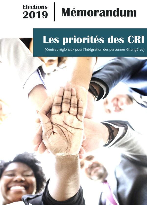 Mémorandum - Les priorités des CRI