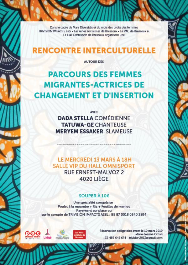 Rencontre interculturelle - le 13 mars à 18h