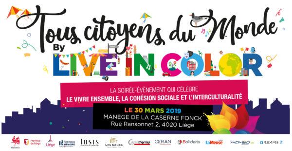 Live in color « TOUS CITOYENS DU MONDE » le 30 mars