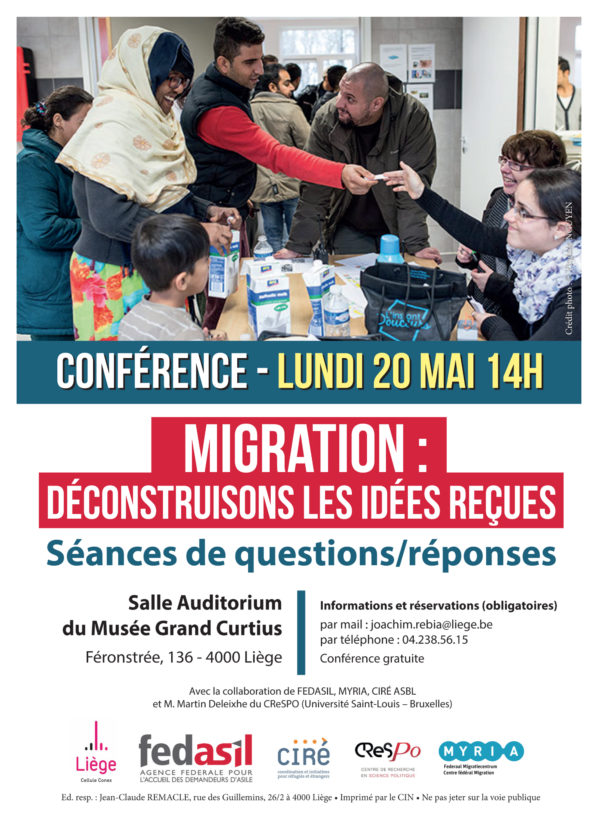 Conférence - Migration : Déconstruisons les idées reçues - le 20 mai (14h)
