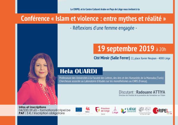 """Conférence """"Islam et violence : entre mythes et réalités"""" - le 19 septembre (20h)"""