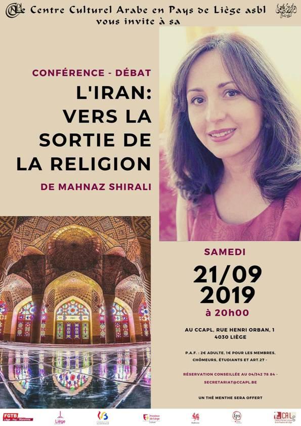 """Conférence-débat """"l'Iran : vers la sortie de la religion"""" - 21 septembre (20h)"""