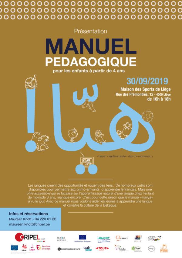"""Présentation du Manuel Pédagogique """"Hayya!"""" - 30 septembre (16h)"""