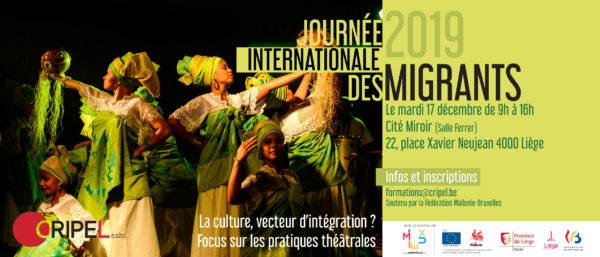 Journée International des Migrants 2019 : La culture, vecteur d'intégration ? Focus sur les pratiques théâtrales - 17 décembre (9h-16h)
