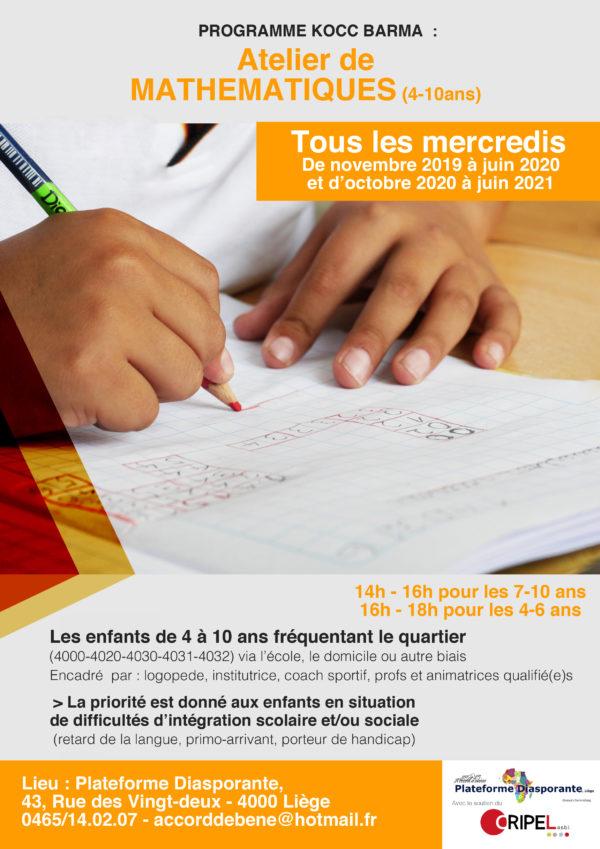 Ateliers de mathématiques pour les enfants de 4 à 10 ans - Tous les mercredis à partir du 13 novembre