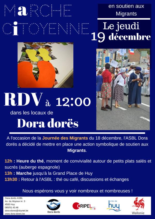 Marche citoyenne en soutien aux migrants - 19 décembre (12h)
