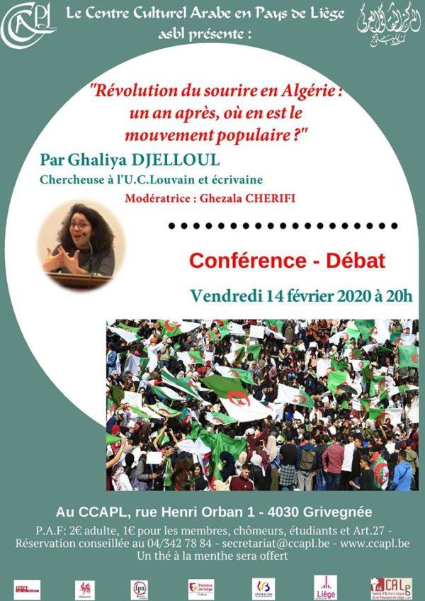 Conférence-débat : situation politique actuelle en Algérie - le 14 février (20h)