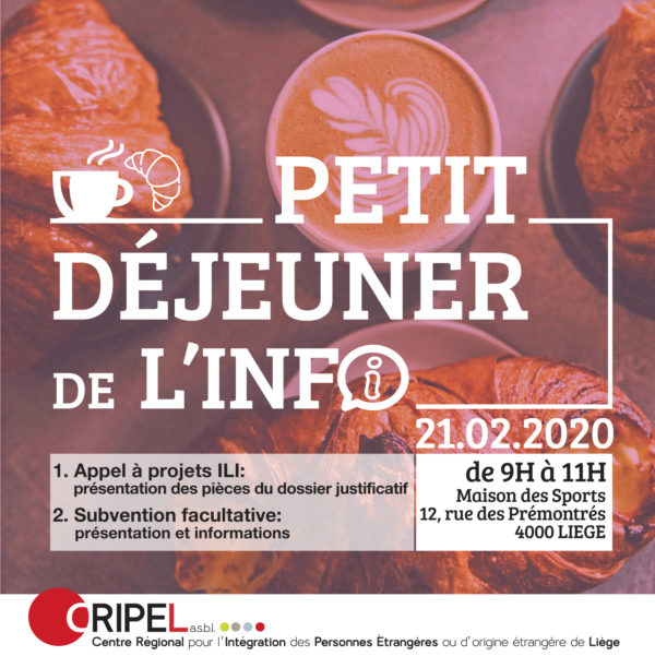 Petit Déjeuner de l'Info - le 21 février (9h-11h)