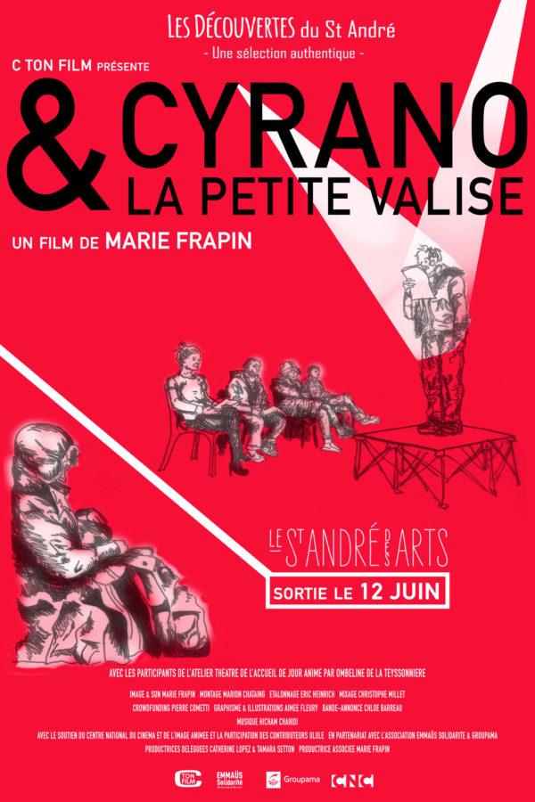 """Projection du film """"Cyrano et la petite valise"""" de Marie FRAPIN, suivi d'un débat sur le thème: « Quels projets pour les SDF à Liège ? » - le 24 mars (14h30-16h45)"""