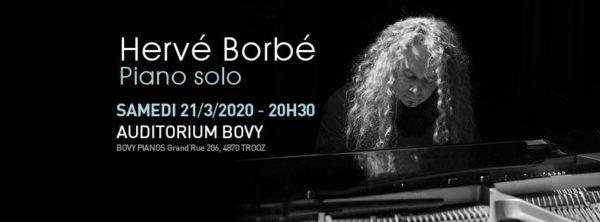 Hervé Borbé : concert piano solo en soutien aux hébergeurs et associations venant en aide aux migrants - le 21 mars (20h30)