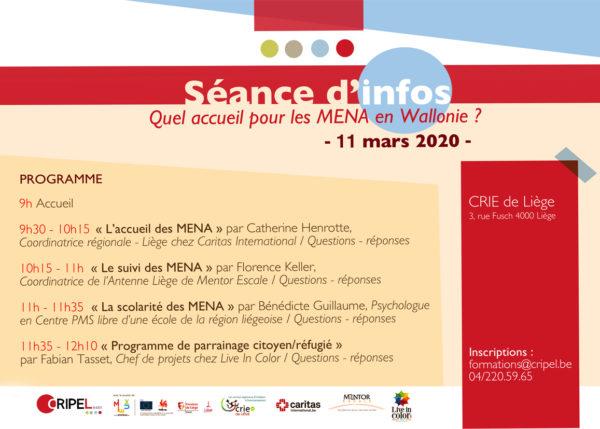 Séance d'infos : Quel accueil pour les MENA en Wallonie ? - le 11 mars (9h-12h30)