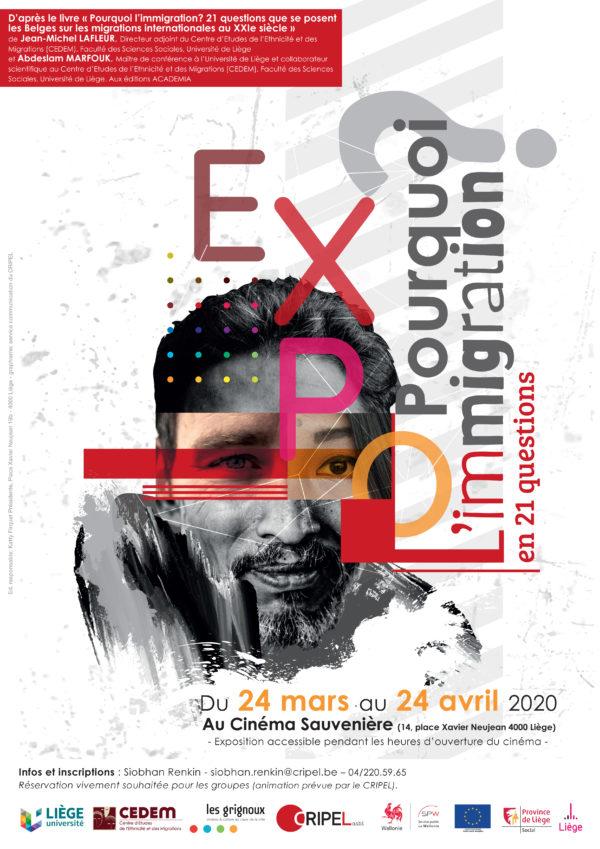 EXPOSITION - Pourquoi l'immigration ? en 21 questions - du 24 mars au 24 avril