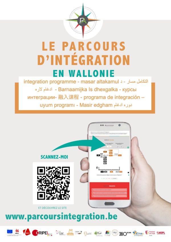 Le site du PARCOURS D'INTEGRATION en Wallonie