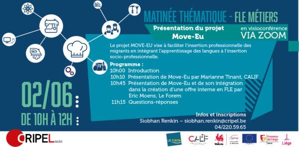 Matinée FLE Métiers - Le 2 juin (10h-12h)