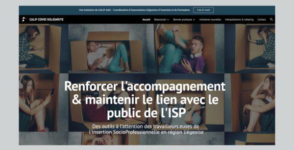 Le site www.Calif-Covid-Solidarité.be